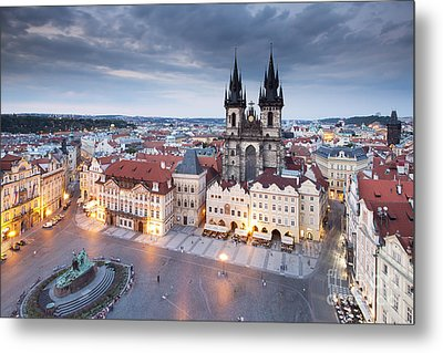 Prague Old Town Square Metal Print by Andre Goncalves