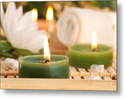 Spa Setting  Metal Print by Mythja  Photography