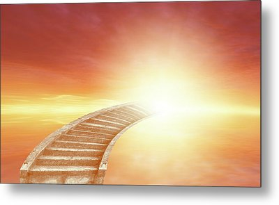 Metal Print featuring the photograph Stairway To Heaven by Les Cunliffe