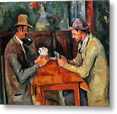 The Card Players Metal Print by Paul Cezanne