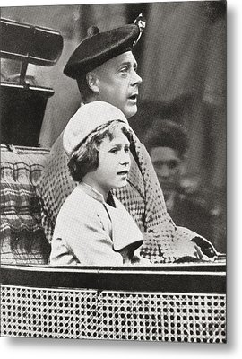 The Prince Of Wales, Later King Edward Metal Print by Vintage Design Pics