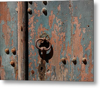 14th Century Door In France Metal Print by Marion McCristall