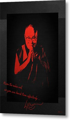 14th Dalai Lama Tenzin Gyatso - Know The Rules Well So You Can Break Them Effectively Metal Print by Serge Averbukh