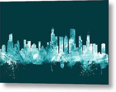 Chicago Illinois Skyline Metal Print