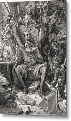 Engraving By Gustave Dore 1832-1883 Metal Print by Vintage Design Pics