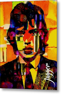 Mick Jagger Collection Metal Print by Marvin Blaine