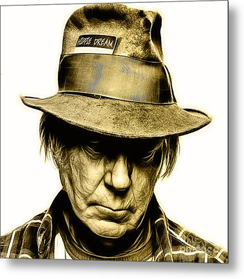Neil Young Collection Metal Print by Marvin Blaine