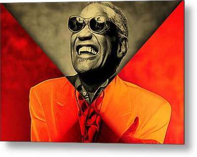 Ray Charles Collection Metal Print by Marvin Blaine