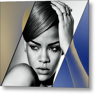 Rihanna Collection Metal Print by Marvin Blaine