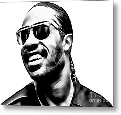 Stevie Wonder Collection Metal Print by Marvin Blaine