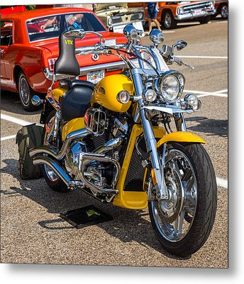 Hall County Sheriffs Office Show And Shine Car Show Metal Print by Michael Sussman
