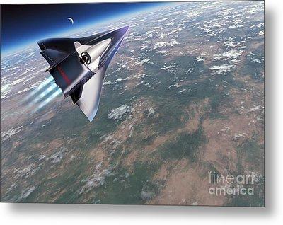Saenger-horus Spaceplane, Artwork Metal Print by Detlev van Ravenswaay