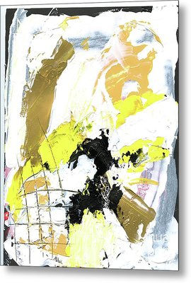 Metal Print featuring the painting Three Color Palette by Michal Mitak Mahgerefteh