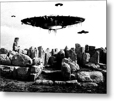 Ufo Sighting Metal Print by Raphael Terra