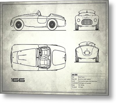 166 Mm Blueprint - White Metal Print by Mark Rogan