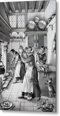 16th Century Kitchen Metal Print by Pat Nicolle