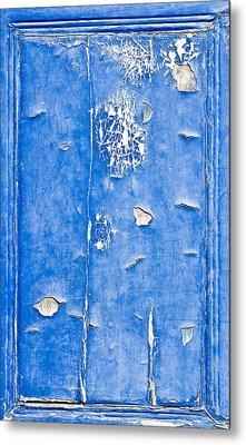 Blue Wood  Metal Print by Tom Gowanlock