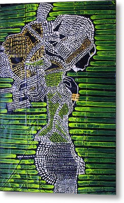 Dinka Lady - South Sudan Metal Print by Gloria Ssali