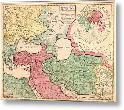 1712 French Map Of Southwest Asia Metal Print by Everett
