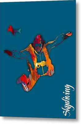 Skydiving Collection Metal Print