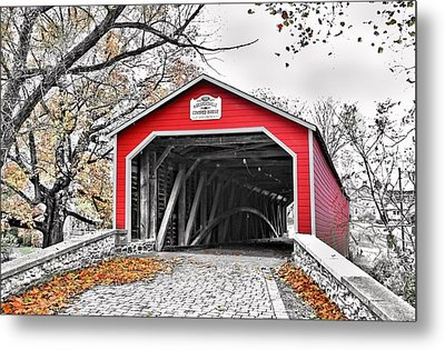 Metal Print featuring the photograph 1839 Kreidersville Bridge by DJ Florek