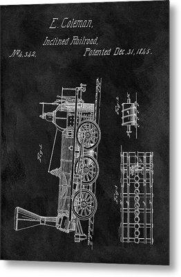 1845 Railroad Patent Metal Print by Dan Sproul