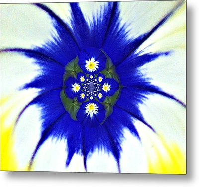 186 Abstract 1 Metal Print by Marty Koch