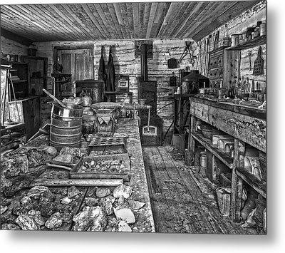 1860's Ore Assay Office Shop - Montana Metal Print by Daniel Hagerman