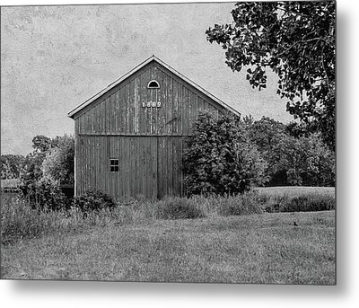 Metal Print featuring the photograph 1869 Black And White by Kim Hojnacki