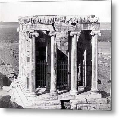 1870 Temple Of Athena Nike, Athens Metal Print