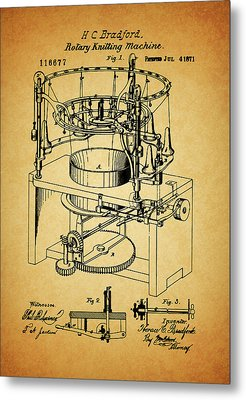 1871 Rotary Knitting Machine Metal Print by Dan Sproul
