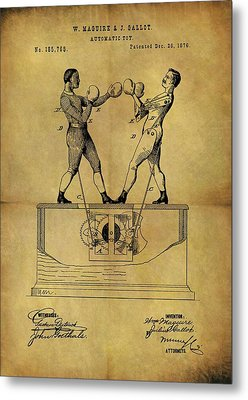 1876 Boxing Toy Patent Metal Print