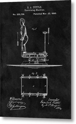 1880 Exercise Apparatus Patent Illustration Metal Print by Dan Sproul