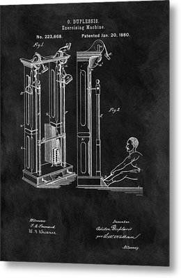 1880 Exercise Machine Patent Metal Print