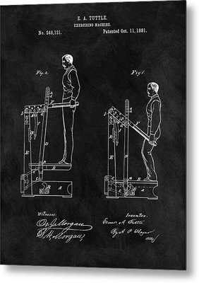 1881 Exercise Machine Illustration Metal Print by Dan Sproul