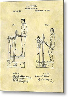 1881 Exercising Machine Patent Metal Print