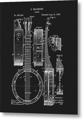 1882 Banjo Patent Metal Print