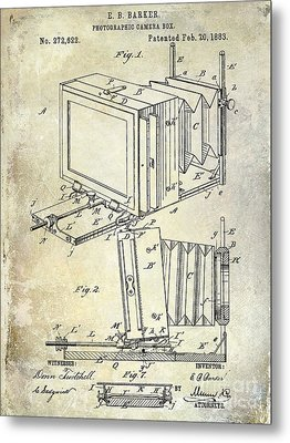 1883 Camera Patent Metal Print by Jon Neidert