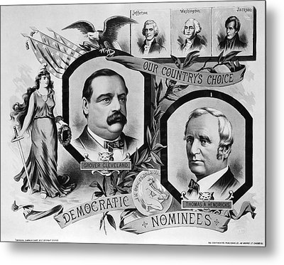 1884 Campaign Banner Metal Print by Underwood Archives