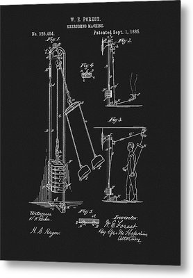 1885 Exercise Apparatus Metal Print by Dan Sproul