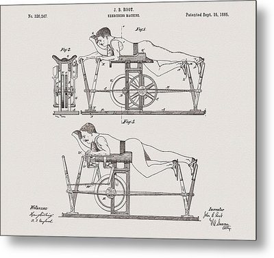 1885 Exercise Apparatus Illustration Metal Print by Dan Sproul