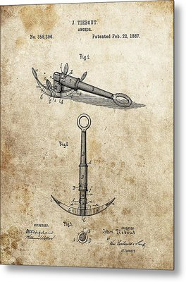 1887 Anchor Patent Metal Print