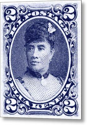 1890 Hawaiian Queen Liliuokalani Stamp Metal Print by Historic Image