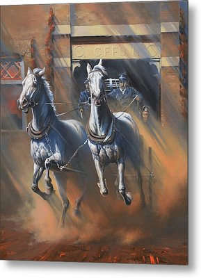 1890's First Responders Metal Print by Mia DeLode
