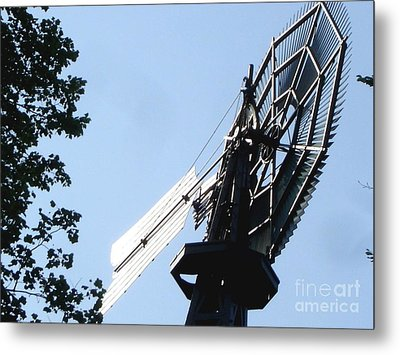 Metal Print featuring the photograph 1894 Bronson Windmill Gears by Margie Avellino