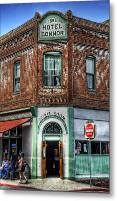 1898 Hotel Connor - Jerome Arizona Metal Print by Saija  Lehtonen