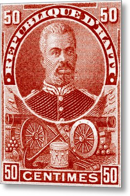 Metal Print featuring the painting 1898 President Of Haiti Stamp by Historic Image