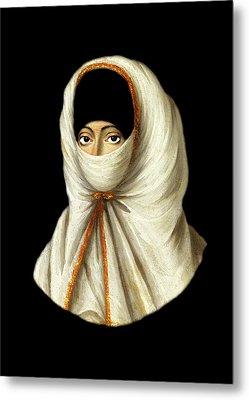 18th Century Veiled Lady Metal Print