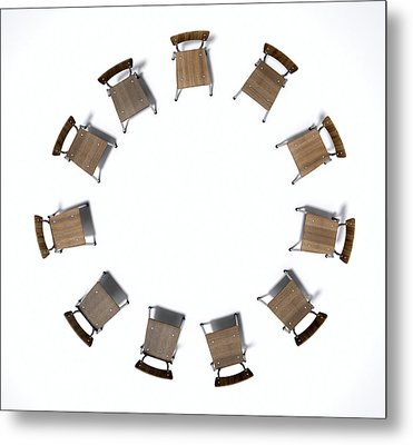 Group Therapy Chairs Metal Print
