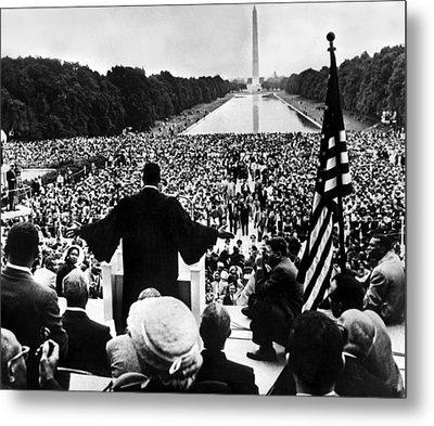 Martin Luther King Jr Metal Print by American School